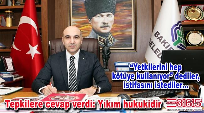 Bakırköy Belediye Başkanı Ataköy'deki yıkımla ilgili konuştu