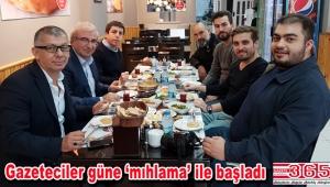 Sürmene Pide'den gazetecilere Karadeniz usulü kahvaltı…