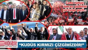 Bahçelievler, Bağcılar, Bakırköy ve Güngören'de ABD ve İsrail protesto edildi