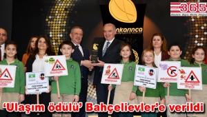 Bahçelievler Belediyesi 'Çocuklara Trafik Eğitimi'yle 'Altın Karınca' ödülü aldı