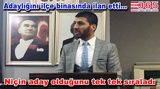 Fırat Erdoğan CHP Bahçelievler Gençlik Kolu Başkanlığı'na adaylığını açıkladı