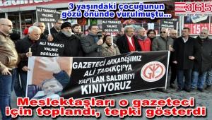 """Gazeteci Ali Tarakçı'ya meslektaşlarından destek: """"Yetkilileri göreve çağırıyoruz"""""""