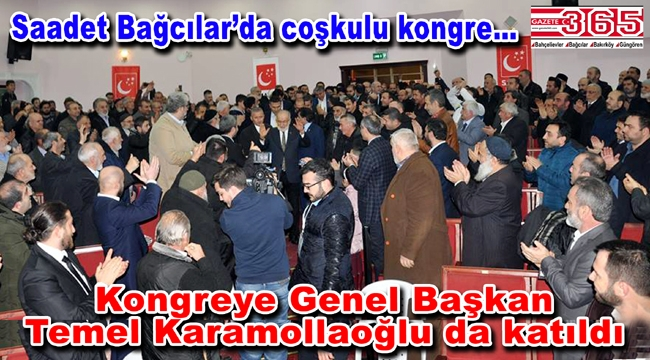 Saadet Partisi Bağcılar İlçe Başkanı Şakir Şahin güven tazeledi