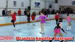Bakırköy'de yenilenen gerçek buz pistinde ücretsiz buz pateni kursu…