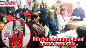 CHP Bağcılar Kadın Kolu Başkanı tekrar Saadet Ekinci oldu