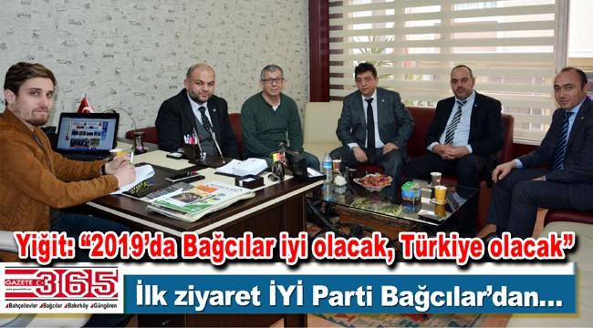 İYİ Parti Bağcılar Teşkilatı Gazete 365 Ailesi'nin 'Gazeteciler Günü'nü kutladı