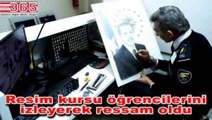 'Ressam güvenlik' Erdoğan'a hediyesini vermek istiyor