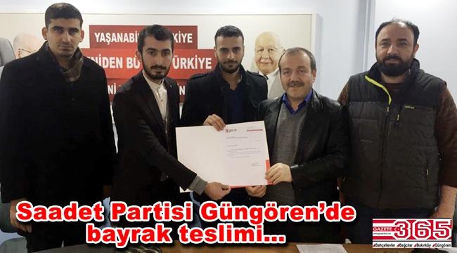 Saadet Partisi Güngören Gençlik Kolu Başkanlığı'na Mesut Karadağ atandı