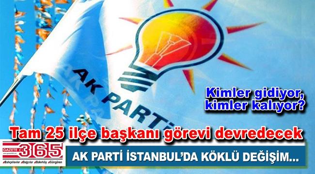 AK Parti İstanbul'da 25 ilçe başkanı değişiyor…