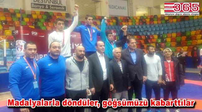 Bahçelievlerli güreşçiler Türkiye Şampiyonası'ndan başarıyla döndüler
