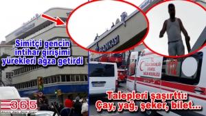 Bakırköy'de korkutan intihar girişimi: 5 katlı binaya çıktı…