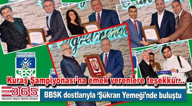 BBSK 'Kuraş Şampiyonası' sürecindeki destekçilerine teşekkür etti