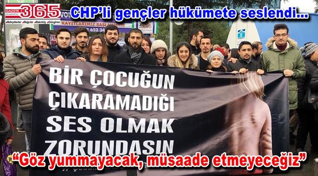 CHP Bahçelievler gençliği çocuk istismarına tepki gösterdi