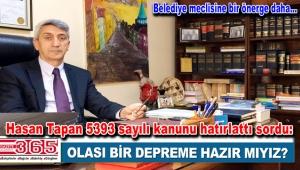 CHP'li Meclis Üyesi Hasan Tapan'dan belediyeye soru yağmuru…