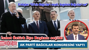 AK Parti Bağcılar İlçe Başkanlığı'na İsmet Öztürk seçildi