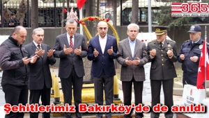 Bakırköy protokolü Bakırköy Şehitliği'ni ziyaret etti