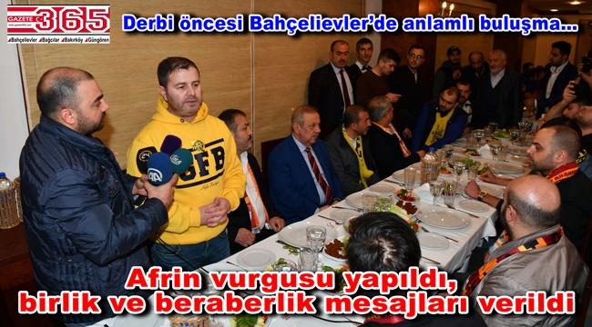 Fenerbahçe ve Galatasaray taraftar grupları Bahçelievler'de buluştu