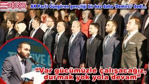 AK Parti Güngören Gençlik Kolu Başkanlığı'na Emrah Demirci seçildi