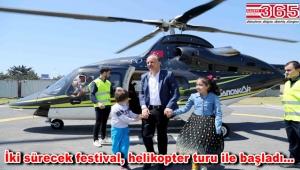 Bağcılarlı çocuklar 23 Nisan'ı gökyüzünde kutladı