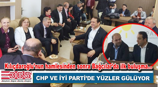 CHP Bağcılar yöneticileri, İYİ Parti İlçe Başkanlığı'nı ziyaret etti