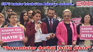 CHP Bahçelievler kadınları İsmail Kahraman'a tepki gösterdi