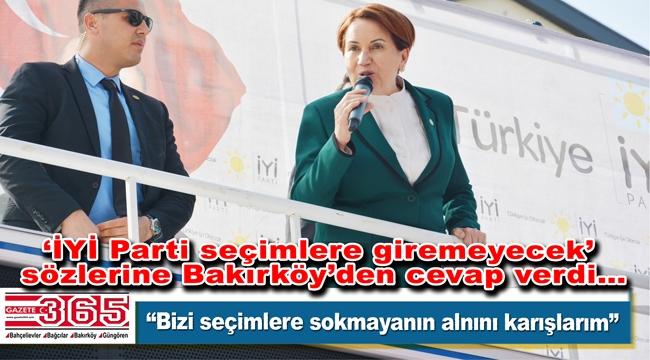 Meral Akşener, partisinin Bakırköy İlçe Başkanlığı'nın açılışını yaptı