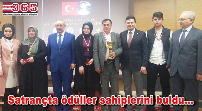 Şehit Mahir Ayabak Satranç Turnuvası sona erdi