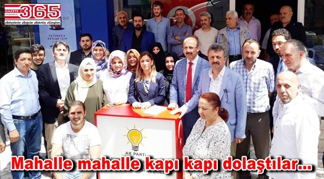 AK Parti Bahçelievler Teşkilatı seçmenle buluştu