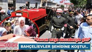 Bahçelievlerli Piyade Onbaşı Sedat Mekan son yolculuğuna uğurlandı