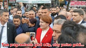 Meral Akşener saldırının yaşandığı Bağcılar'a geldi