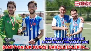 Şampiyonluk kupası Bahçelievler 112 futbol takımının oldu