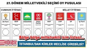 24 Haziran'da İstanbul'da hangi parti kaç milletvekili çıkardı?
