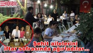 CHP Bahçelievler kadınları, şehit aileleriyle iftarda buluştu