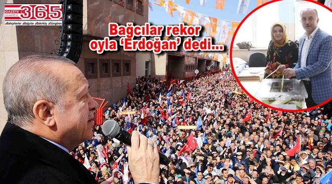 Cumhurbaşkanı Erdoğan'a İstanbul'da en çok oy Bağcılar'dan çıktı