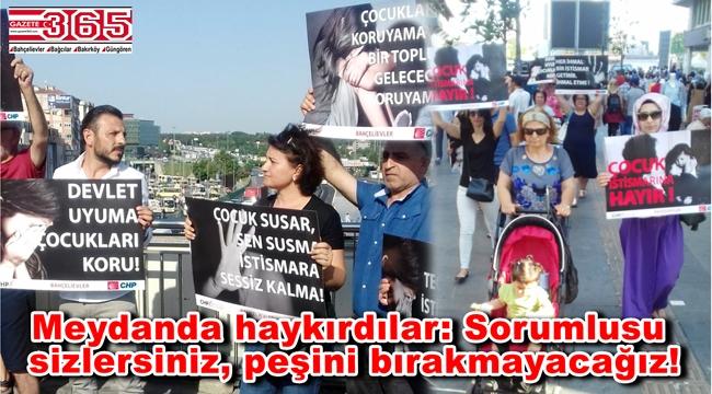 CHP Bahçelievler kadınları çocuk istismarına tepki gösterdi