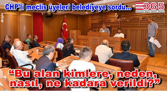 CHP'li belediye meclis üyeleri 'Eren Korusu' hakkında önerge verdi