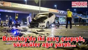 Bakırköy'de trafik kazası: 3 yaralı var