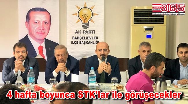 AK Parti Bahçelievler Teşkilatı sivil toplum kuruluşu temsilcileriyle buluştu