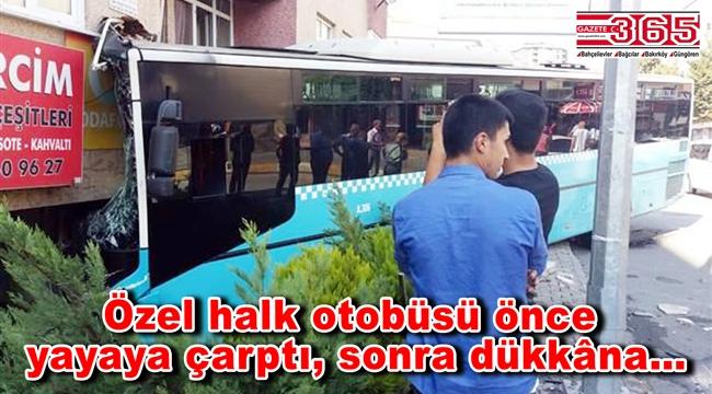 Bağcılar'da halk otobüsü binaya girdi: Yaralılar var