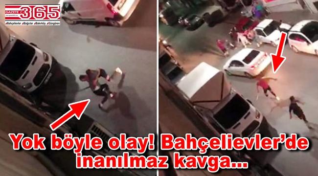 Bahçelievler'de kadınlar erkekleri döverek hastanelik etti