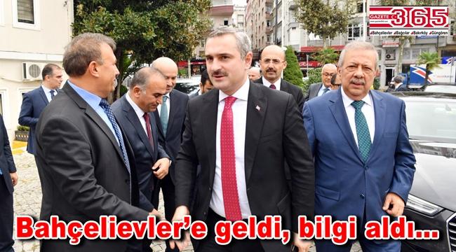 AK Parti İl Başkanı Bayram Şenocak Bahçelievler'e ziyaret gerçekleştirdi