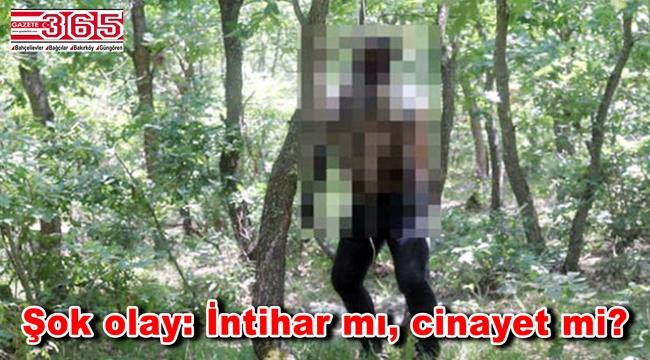 Bahçelievler'de bir kişi ağaca asılı halde bulundu