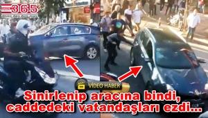 Bakırköy'de dehşet anları! Aracı vatandaşların üzerine sürdü
