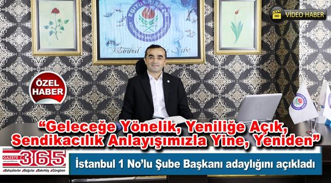 Başkan Ferhat Öztürk 'EĞİTİMde BİRiz' sloganı ile yeniden aday…