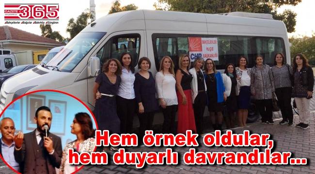 CHP Bahçelievler kadınları ilçelerine bir araç kazandırdı