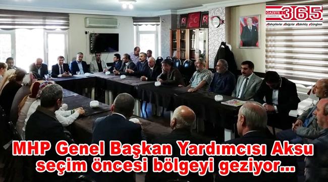 MHP milletvekili İsmail Faruk Aksu Bahçelievler teşkilatıyla buluştu