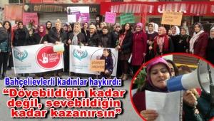 BKDD'li kadınlar kadına şiddete karşı tepki gösterdi