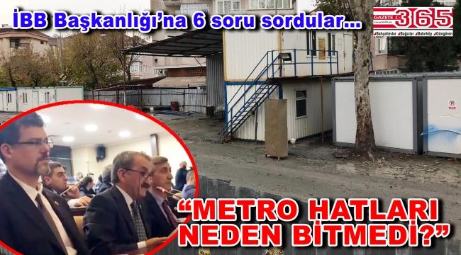 CHP'li meclis üyeleri metro projelerini İBB Meclisi'nin gündemine taşıdı