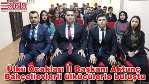 Ülkü Ocakları İstanbul İl Başkanı Aktunç Bahçelievler'e geldi