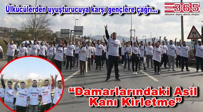Ülkü Ocakları İstanbul İl Başkanlığı maratona damga vurdu